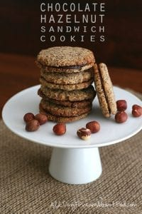 Hazelnut chocolate sandwich cookies