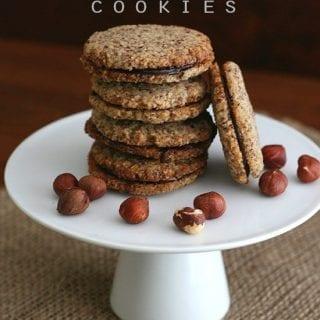 Hazelnut chocolate sandwich cookies