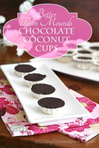 Low Carb Chocolate Coconut Cups