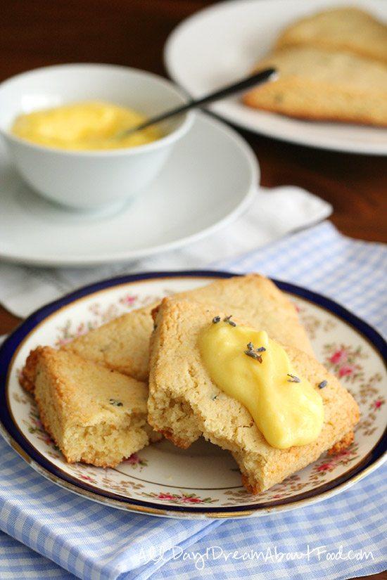 Almond Flour Scones with Low Carb Lemon Curd