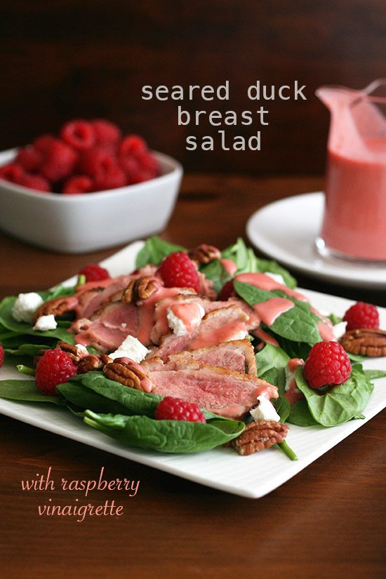 Low Carb Duck Breast Salad Raspberry Vinaigrette
