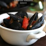 Spicy Mussels in Chorizo Tomato Sauce