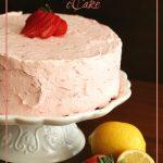 Low Carb Strawberry Lemonade Layer Cake