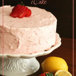 Low Carb Strawberry Lemonade Layer Cake