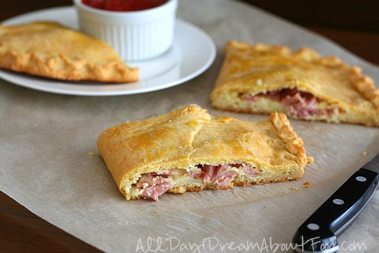 Low Carb Calzones with Ham and Cheese