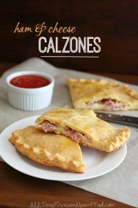 Low Carb Ham and Cheese Calzones
