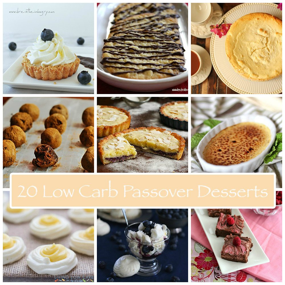 Low Carb Dessert Ideas ☺ Low Carb Dessert Recipes: Most Popular - Shared from 100+ to 11,000+ times ☺♥☺ #carbswitch carbswitch.com #HotPinPtr Please Repin:) 20 Delicious Low Carb Passover Dessert Recipes