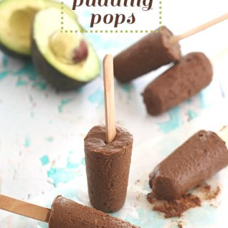 Low Carb Chocolate Avocado Pudding Pops