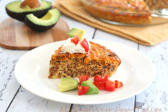 Low Carb Gluten Free Taco Pie Recipe