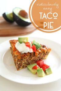 Easy Low Carb Taco Pie