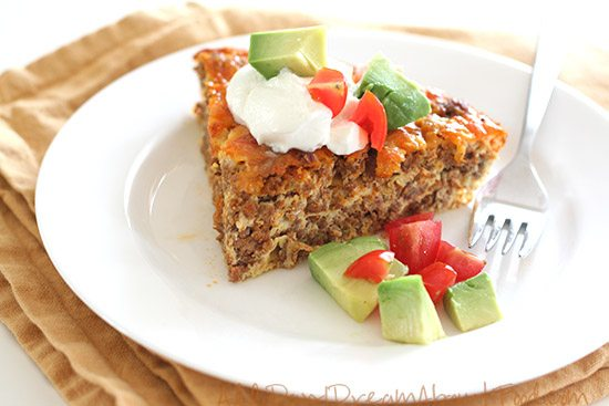 Easy Taco Pie Low Carb Grain Free