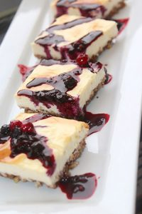 Low Carb Berry Pecan Cheesecake Bars