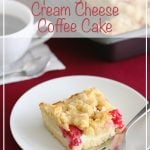 Low Carb Raspberry Cream Cheese Coffee Cake