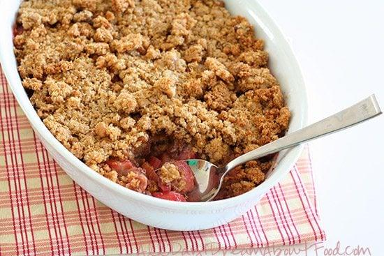 Gluten-Free Sugar Free Rhubarb Crisp