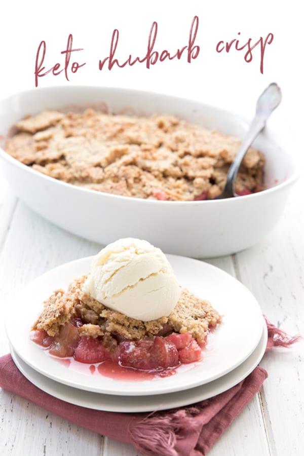 keto rhubarb dessert recipes Keto Rhubarb Crisp