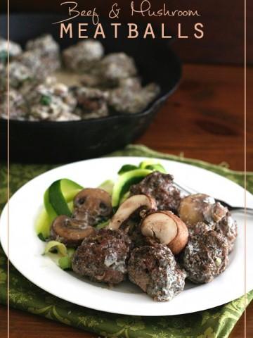 Low Carb Beef Mushroom Meatballs