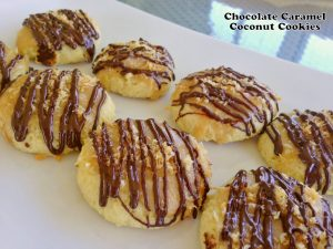 Low Carb Chocolate Caramel Coconut Cookies