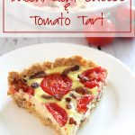 Low Carb Bacon Goat Cheese and Tomato Tart
