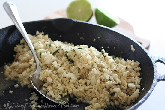 Copycat Chipotle Cilantro Lime Cauliflower Rice