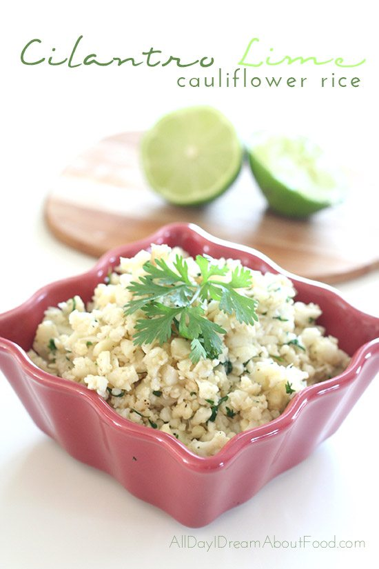 Low Carb Cilantro Lime Cauliflower Rice Recipe