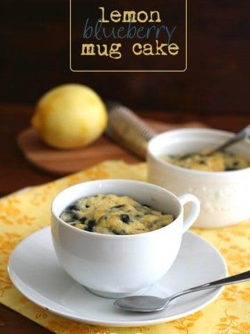 Low Carb Nut Free Lemon Blueberry Mug Cake