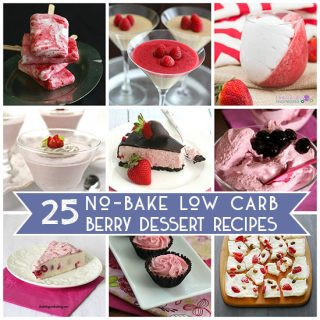 No Bake Low Carb Berry Desserts