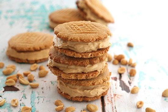 Gluten-Free Peanut Butter Ice Cream Sandwiches