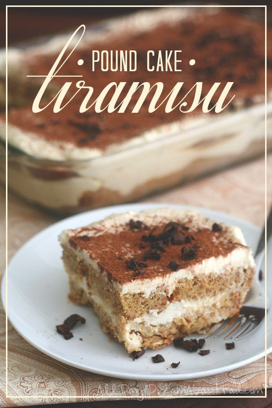 Low Carb Tiramisu with Pound Cake