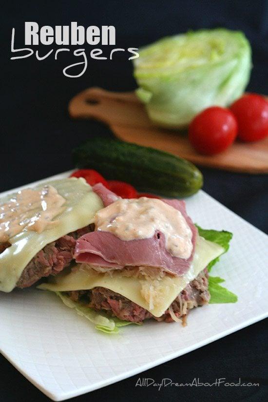Low Carb Reuben Burger Recipe