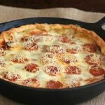 Gluten-Free Grain Free Deep Dish Sausage Pizza