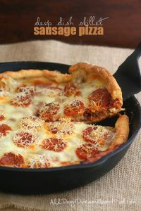 Low Carb Deep Dish Sausage Pizza