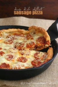 Low Carb Deep Dish Sausage Pizza