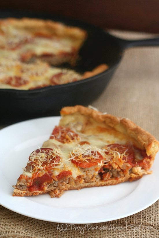 Deep Dish Pizza Low Carb Gluten Free