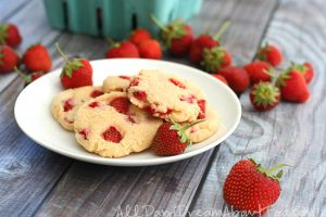 Low Carb Gluten Free Strawberry Cheesecake Cookies