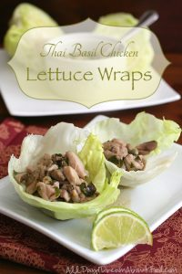 Low Carb Thai Basil Chicken Lettuce Wraps