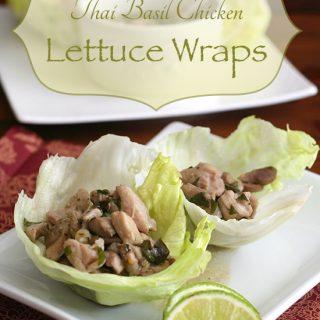 Low Carb Thai Basil Chicken Lettuce Wraps