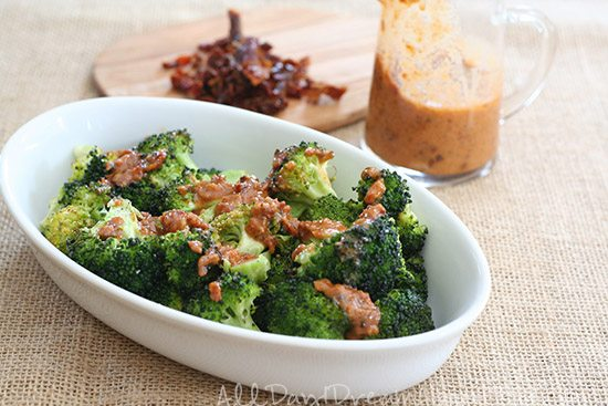Please see my Roasted Broccoli with Bacon Sun-Dried Tomato Vinaigrette ...