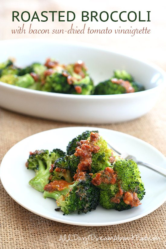 Roasted Broccoli with Bacon Sun-Dried Tomato Vinaigrette
