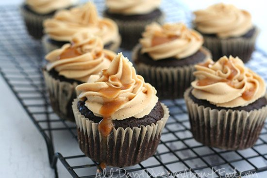 Sugar Free Grain Free Salted Caramel Brownie Cupcakes