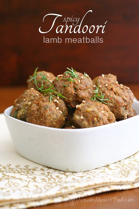 Low Carb Tandoori Spiced Meatballs