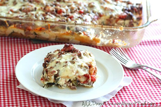 Healthy Low Carb Zucchini Lasagna