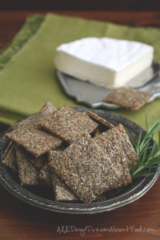 Low Carb Grain-Free Cracker Recipe with Sunflower and Chia Seeds