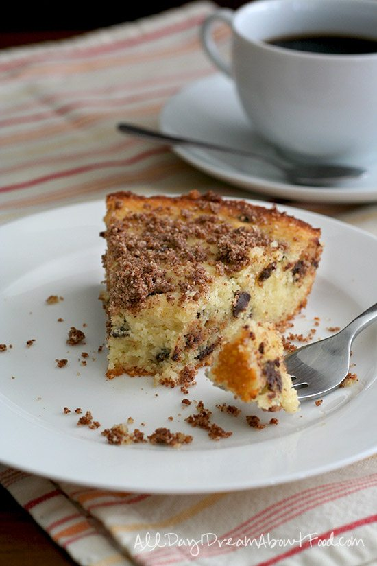 Low Carb Skillet Chocolate Chip Coffee Cake Recipe | All Day I Dream ...