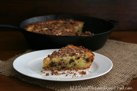Low Carb Gluten-Free Chocolate Chip Coffee Cake Recipe