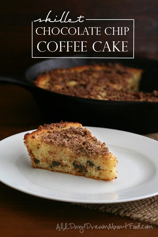 Low Carb Skillet Chocolate Chip Coffee Cake