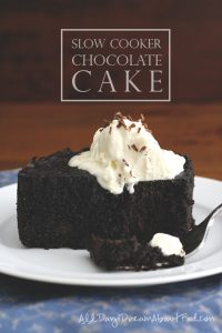 Low Carb Slow Cooker Chocolate Cake