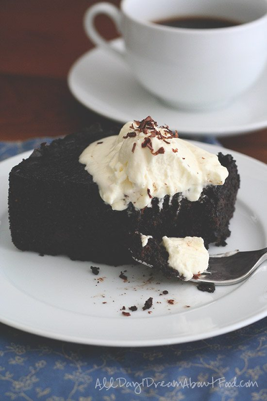 Low Carb Gluten Free Slow Cooker Chocolate Cake