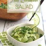 Low Carb Paleo Thai Cucumber Salad