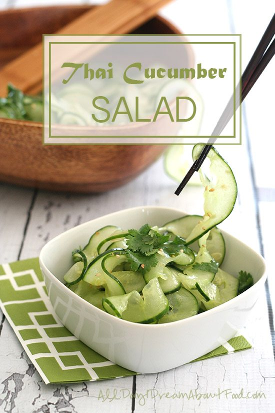 Low Carb Paleo Thai Cucumber Salad