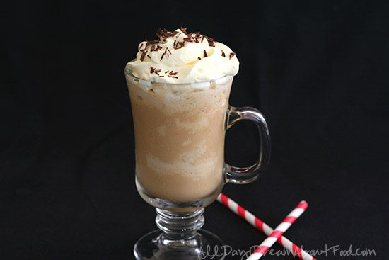 Low Carb Homemade Caramel Frappuccino